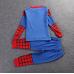 SL0123 ชุดแฟนซีเด็ก ชุดนอนเด็ก แขนยาวขายาว ลายซุปเปอร์ฮีโร่ สไปเดอร์แมน (2ชิ้น)