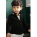 CO0040 เสื้อคลุมเด็ก /เสื้อสูทเด็ก / เสื้อแจ๊คเก็ต เด็กผู้ชาย ออกงาน แขนยาว สีดำ s.110