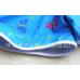 SW0100 ชุดว่ายน้ำเด็กผู้หญิง แบบเสื้อและกางเกงแขนขาสั้น ลาย Frozen สีฟ้า (2ชิ้น) S.140