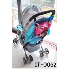 IT0062 ที่แขวนของบนรถเข็น สีชมพูผสมฟ้า