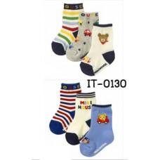 it0130 ถุงเท้ากันลื่น เด็กผู้ชาย Miki House แพ็ค 3 คู่ มี 2 แบบ