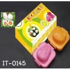 it0145 พิมพ์ไข่ต้ม ข้าวปั้น ลายหมี / ลายกระต่าย (เลือกสี)