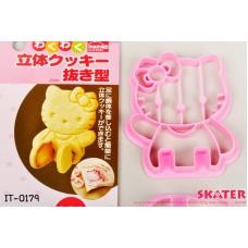 it0179 พิมพ์กดคุ๊กกี้ แบบนั่งได้ Cookie 3D Cutter ลายคิตตี้