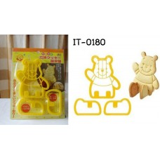 it0180 พิมพ์กดคุ๊กกี้ แบบนั่งได้ Cookie 3D Cutter ลายหมีพูห์