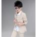 BO0493 ชุดสูทเด็กผู้ชายออกงาน เด็กโต สุดคุ้ม เสื้อสูท + เสื้อกั๊ก + กางเกงขายาวสีน้ำตาลทอง (3ชิ้น)