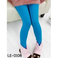 LE0108 กางเกงเลคกิ้งเด็กผู้หญิง ขายาว สีฟ้า S.90