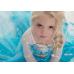 GI0874 เดรสเด็กผู้หญิงเจ้าหญิงโฟรเซ่น Frozen แขนยาวติดคริสตัลที่อก สีฟ้า