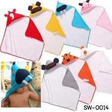SW0014 ผ้าห่อตัวเด็ก ผ้าคลุมอาบน้ำ หรือ ผ้าคลุมสำหรับว่ายน้ำ 3 Sprouts ลายสัตว์น่ารัก 7 แบบ สีเทา
