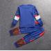 SL0121 ชุดแฟนซีเด็ก ชุดนอนเด็ก แขนยาวขายาว ลายซุปเปอร์ฮีโร่ กัปตันอเมริกา (2ชิ้น)