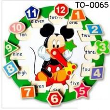 TO0065 นาฬิกาไม้ ดิสนีย์ ของเล่นเสริมพํฒนาการ (เลือกลาย)