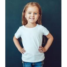 TS0001 เสื้อยืดเด็ก คอกลม สีขาวล้วน