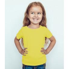 TS0003 เสื้อยืดเด็ก คอกลม สีเหลือง