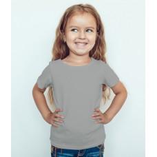 TS0013 เสื้อยืดเด็ก คอกลม สีเทาควันบุหรี่