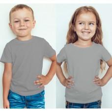 TS0005 เสื้อยืดเด็ก คอกลม สีเทาอ่อน