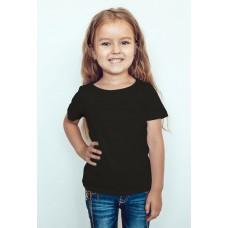 TS0008 เสื้อยืดเด็ก คอกลม สีดำล้วน