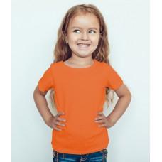 TS0010 เสื้อยืดเด็ก คอกลม สีส้ม