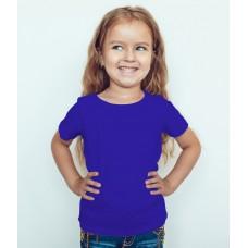 TS0011 เสื้อยืดเด็ก คอกลม สีน้ำเงิน