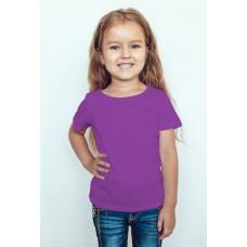 TS0012 เสื้อยืดเด็ก คอกลม สีม่วง