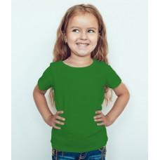 TS0007 เสื้อยืดเด็ก คอกลม สีเขียวไมโล
