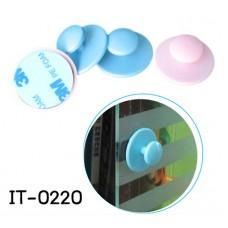 IT0220 ที่ดึงจับประตู / ตู้ 3M สำหรับเปิดออกมา สีชมพู